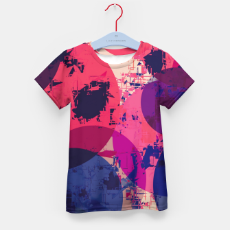 Miniatur geometric circle pattern abstract in red and blue Kid's t-shirt, Live Heroes