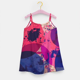 Miniaturka geometric circle pattern abstract in red and blue Girl's dress, Live Heroes