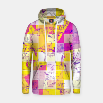 Miniatur geometric square and triangle pattern abstract in pink yellow blue Hoodie, Live Heroes