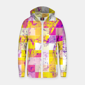 Miniature de image de geometric square and triangle pattern abstract in pink yellow blue Zip up hoodie, Live Heroes
