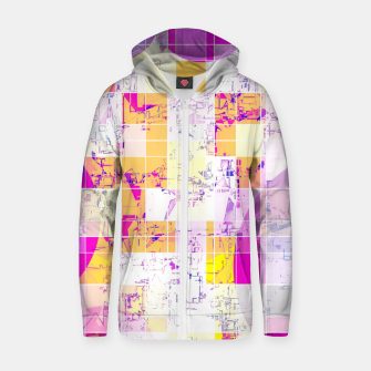 Miniature de image de geometric square and circle pattern abstract in pink purple yellow Zip up hoodie, Live Heroes