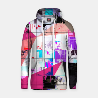 Miniatur geometric triangle and square pattern abstract in pink purple blue Hoodie, Live Heroes