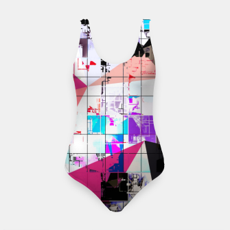 Miniature de image de geometric triangle and square pattern abstract in pink purple blue Swimsuit, Live Heroes