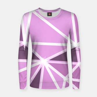 geometric triangle pattern abstract background in pink and white Women sweater thumbnail image