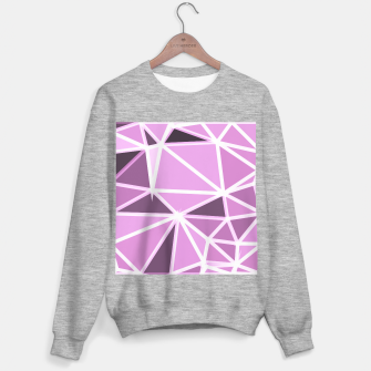 geometric triangle pattern abstract background in pink and white Sweater regular thumbnail image