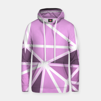 geometric triangle pattern abstract background in pink and white Hoodie thumbnail image