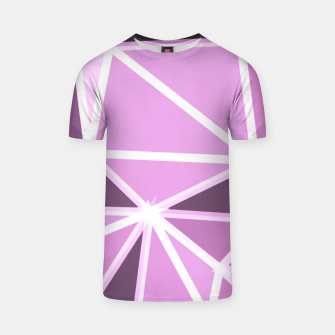 geometric triangle pattern abstract background in pink and white T-shirt thumbnail image