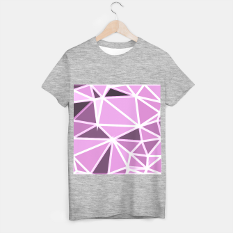 geometric triangle pattern abstract background in pink and white T-shirt regular thumbnail image