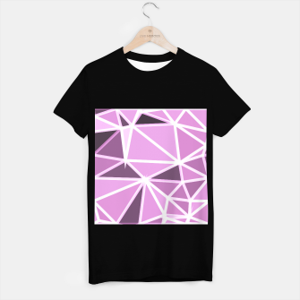 Miniatur geometric triangle pattern abstract background in pink and white T-shirt regular, Live Heroes