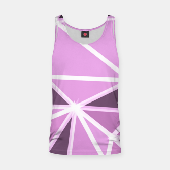 geometric triangle pattern abstract background in pink and white Tank Top thumbnail image