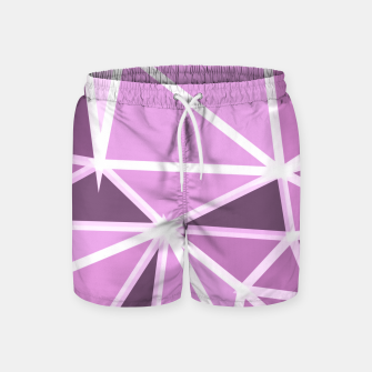 geometric triangle pattern abstract background in pink and white Swim Shorts thumbnail image