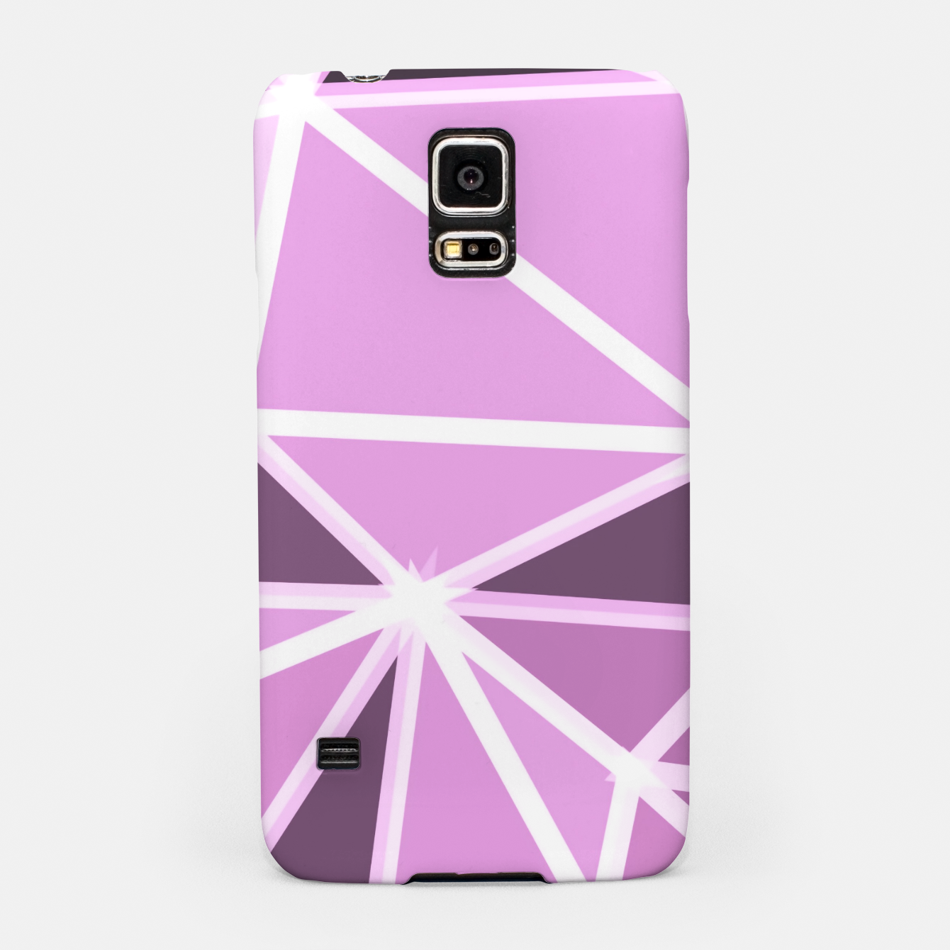 Image of geometric triangle pattern abstract background in pink and white Samsung Case - Live Heroes