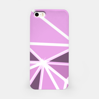 Miniatur geometric triangle pattern abstract background in pink and white iPhone Case, Live Heroes