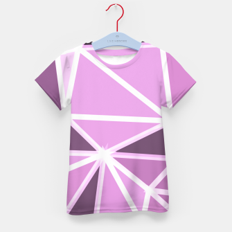 geometric triangle pattern abstract background in pink and white Kid's t-shirt thumbnail image