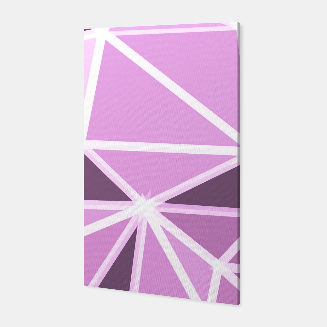 Image of geometric triangle pattern abstract background in pink and white Canvas - Live Heroes