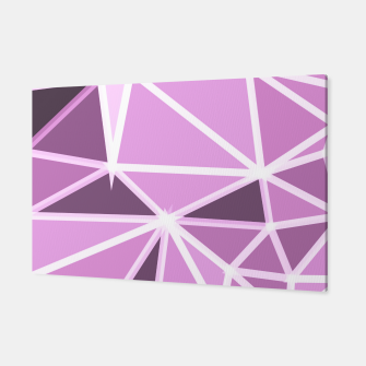 Miniatur geometric triangle pattern abstract background in pink and white Canvas, Live Heroes