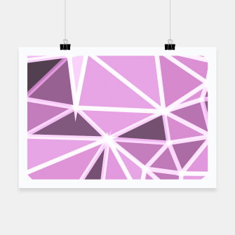 Thumbnail image of geometric triangle pattern abstract background in pink and white Poster, Live Heroes