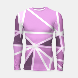 geometric triangle pattern abstract background in pink and white Longsleeve rashguard  thumbnail image