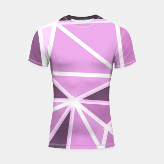 geometric triangle pattern abstract background in pink and white Shortsleeve rashguard thumbnail image