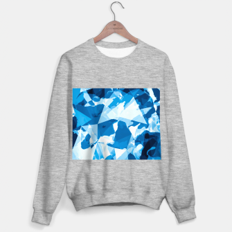 Imagen en miniatura de geometric triangle pattern abstract with blue painting background Sweater regular, Live Heroes