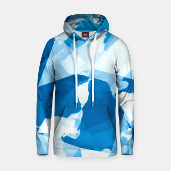 Imagen en miniatura de geometric triangle pattern abstract with blue painting background Hoodie, Live Heroes