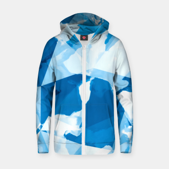 Imagen en miniatura de geometric triangle pattern abstract with blue painting background Zip up hoodie, Live Heroes