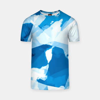 Imagen en miniatura de geometric triangle pattern abstract with blue painting background T-shirt, Live Heroes