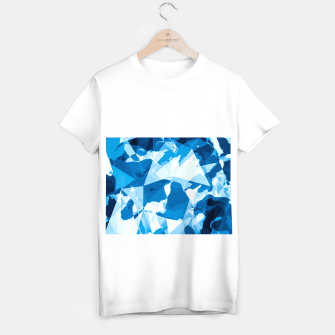 Miniatur geometric triangle pattern abstract with blue painting background T-shirt regular, Live Heroes