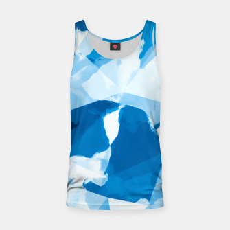 Imagen en miniatura de geometric triangle pattern abstract with blue painting background Tank Top, Live Heroes