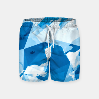 Miniatur geometric triangle pattern abstract with blue painting background Swim Shorts, Live Heroes