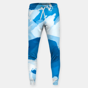 Imagen en miniatura de geometric triangle pattern abstract with blue painting background Sweatpants, Live Heroes