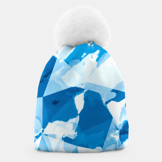 Imagen en miniatura de geometric triangle pattern abstract with blue painting background Beanie, Live Heroes