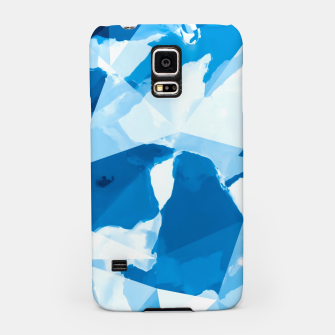 Imagen en miniatura de geometric triangle pattern abstract with blue painting background Samsung Case, Live Heroes