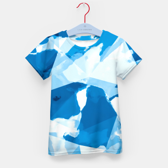 Miniatur geometric triangle pattern abstract with blue painting background Kid's t-shirt, Live Heroes