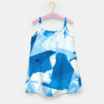 Imagen en miniatura de geometric triangle pattern abstract with blue painting background Girl's dress, Live Heroes