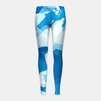 Imagen en miniatura de geometric triangle pattern abstract with blue painting background Girl's leggings, Live Heroes