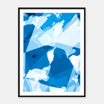 Imagen en miniatura de geometric triangle pattern abstract with blue painting background Framed poster, Live Heroes