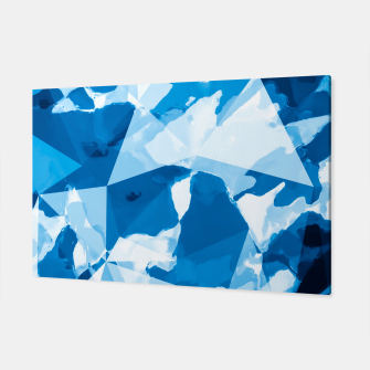 Miniatur geometric triangle pattern abstract with blue painting background Canvas, Live Heroes