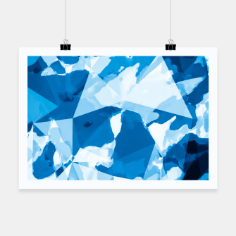 Imagen en miniatura de geometric triangle pattern abstract with blue painting background Poster, Live Heroes