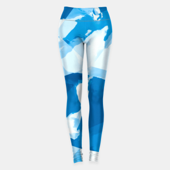Imagen en miniatura de geometric triangle pattern abstract with blue painting background Leggings, Live Heroes