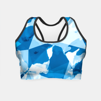 Imagen en miniatura de geometric triangle pattern abstract with blue painting background Crop Top, Live Heroes