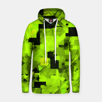 Miniatur geometric square pixel pattern abstract background in green and black Hoodie, Live Heroes