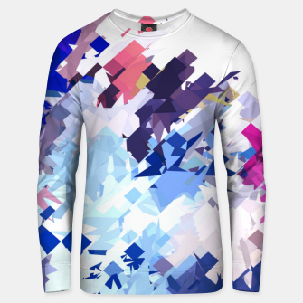 splash geometric pattern abstract background in blue pink purple Unisex sweater thumbnail image