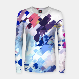 splash geometric pattern abstract background in blue pink purple Women sweater thumbnail image