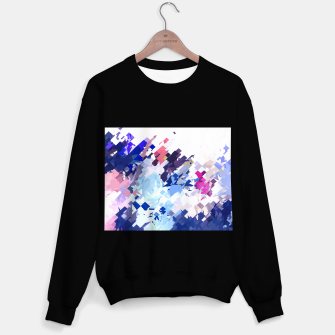 Thumbnail image of splash geometric pattern abstract background in blue pink purple Sweater regular, Live Heroes