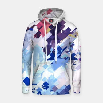 splash geometric pattern abstract background in blue pink purple Hoodie thumbnail image