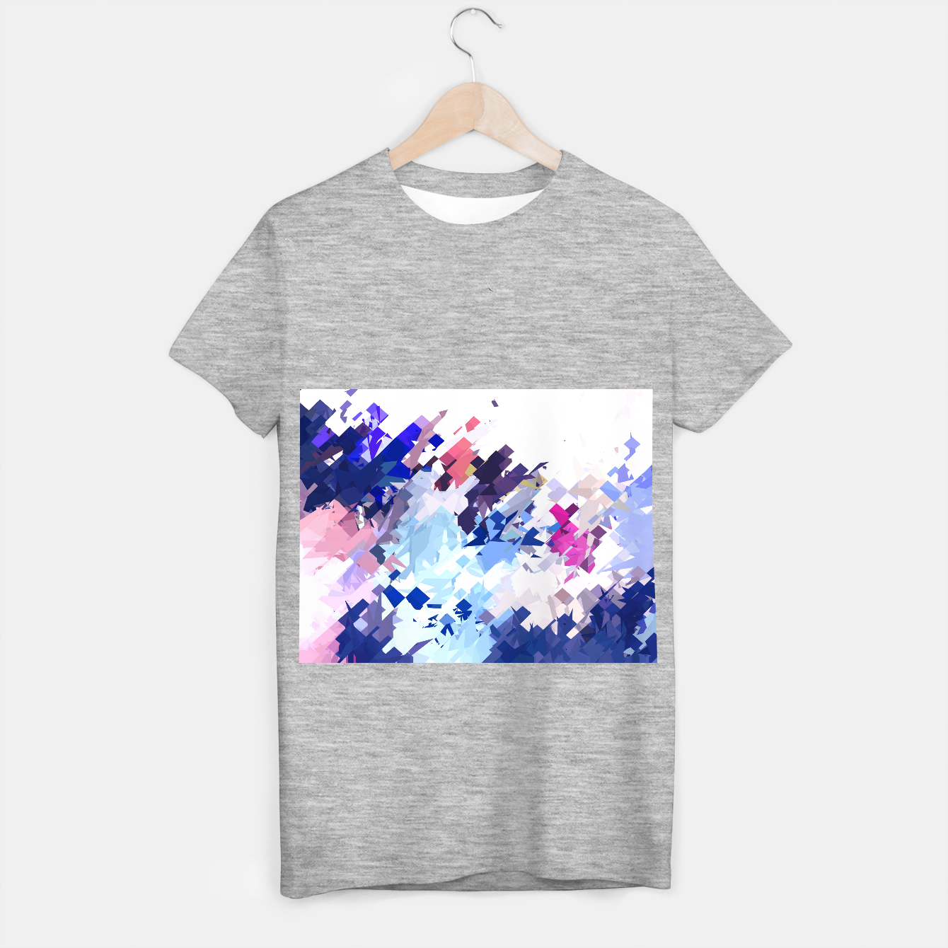 Image of splash geometric pattern abstract background in blue pink purple T-shirt regular - Live Heroes