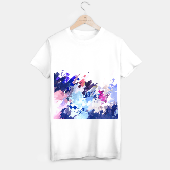 Thumbnail image of splash geometric pattern abstract background in blue pink purple T-shirt regular, Live Heroes