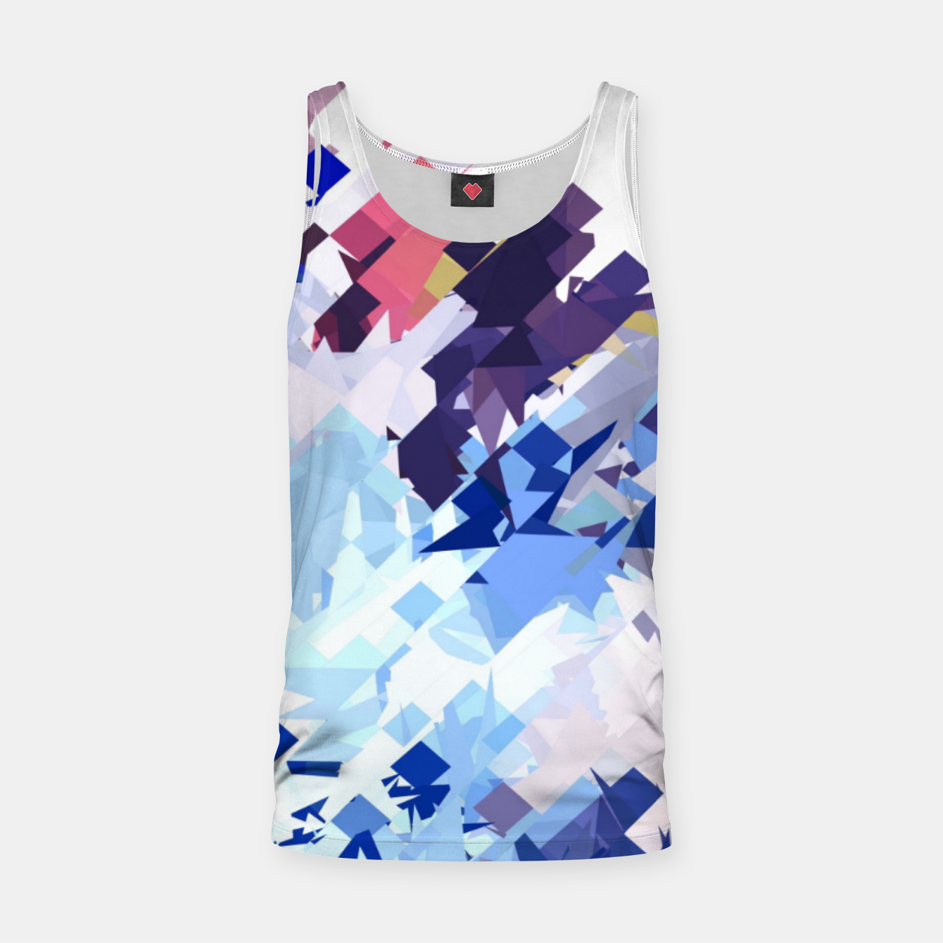 Image of splash geometric pattern abstract background in blue pink purple Tank Top - Live Heroes