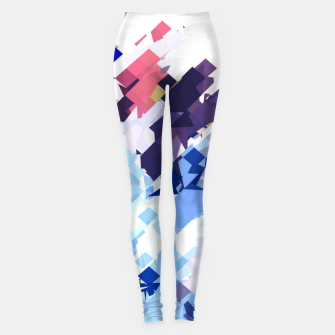 splash geometric pattern abstract background in blue pink purple Leggings thumbnail image